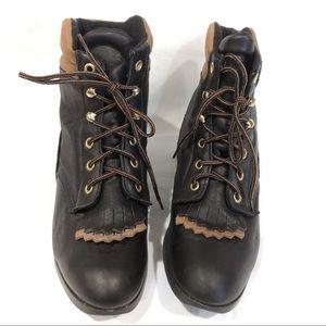 Performair Laredo Women's Black Roper Boots 8.5 M